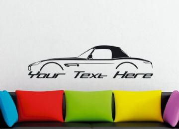 Large Custom car silhouette wall sticker - for BMW Z8 Roadster ( hardtop )